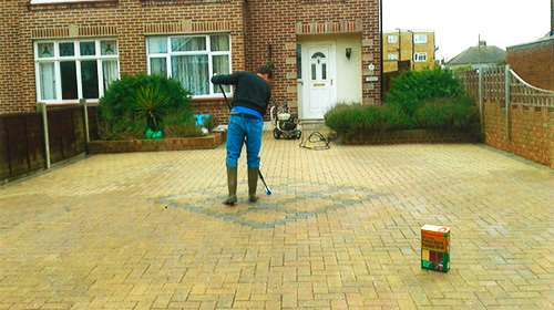Resand reseal block paving